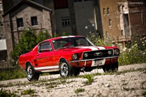 Red 67 Mustang by AmericanMuscle