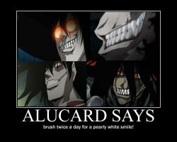 alucard says motivational by alucardserasfangirl