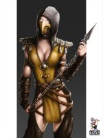Scorpion - Genderswapped - again by EvilFlesh