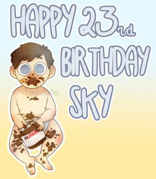 4/18 Sky's birthday (oc) by Amnesia5sos