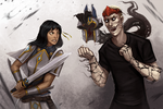 Commission - Matthias vs Liviana by Serpentwined