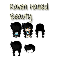 Raven Haired Beauty [Mixed Hair] by Bluesnow4545
