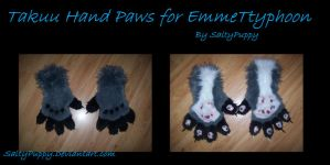 Takuu Fursuit Paws by SaltyPuppy