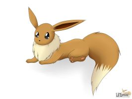 Adorable Eevee by alexbrowningpx