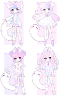 CLOSED Ghosties adoptable auction by CHARIKO