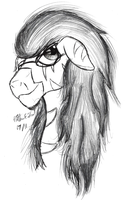 OC Sketch - Amber Light by AncientOwl