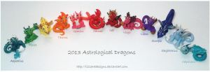 2013 Astrological Dragons by lizzarddesigns