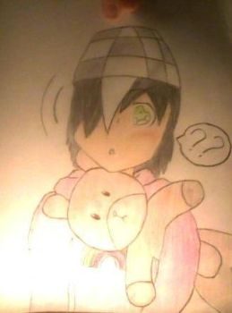 Kayden with his new teddy + color Vrs. 2 by AngelSaviorBVB