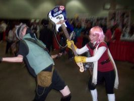 Kakashi vs Haruko by foxanime101