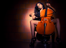 The Cellist by whitehotphoenix