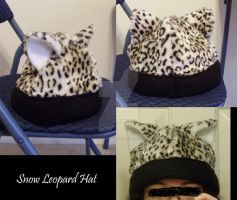 Snow Leopard Hat by Pyro-Vampire