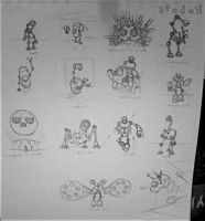 Old robot concept page by Gmrmnd7