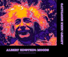 Albert Einstein: Moods by montalvo-mike