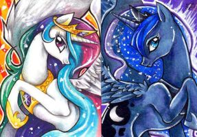 Equestrian Princesses ACEO by GreyRadian