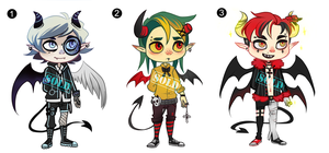 Demons Adopts (Points/Paypal) CLOSED by KuAdopts