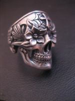 Day of the dead  skull ring 2 by flintlockprivateer