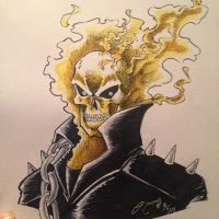 Bus Ride Doodle - Ghost Rider by Streak2005