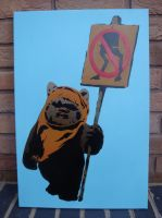 Wicket the Ewok Protest by RAMART79