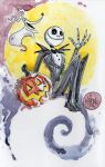 Watercolor: Jack Skellington by mikemaihack