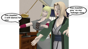 Samui and Tsunade hypnotized by Hypnowalker