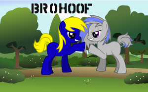 [Epic Bro hoof] Alex (Me) and Joe by LibraTheHedgehog