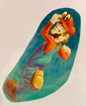 Super Mario [Odyssey] Colored by nuttyfangirl7