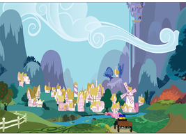 Almost at Ponyville by Tonypilot
