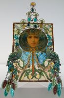 Art Nouveau Glass Piece by ArtfullyMusing