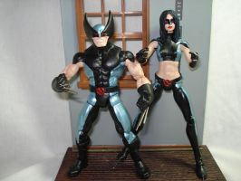 x-force wolverine and x-23 by hunterknightcustoms