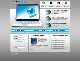 Software company web page 2 by Player-Designer
