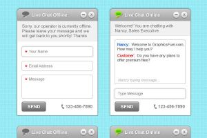 Clean and Simple Live Chat Interface (PSD) by softarea
