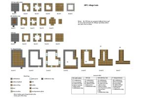 NPC huts and houses floorplans updated by ColtCoyote