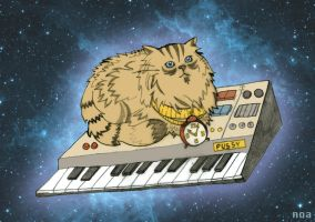 Cat in Space by noakrank