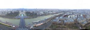 Eiffel Tower 2nd floor panorama by stevegek