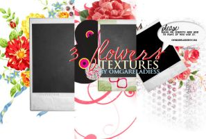 3 flower textures by omgareladiess