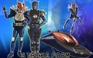 KR New Den-O Strike Form by blakehunter