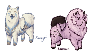 Fluffy canine adopts by EdibleAdoptables