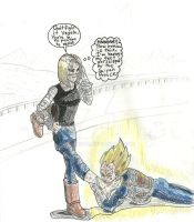 Vegeta's Humiliation Color by Mununsah