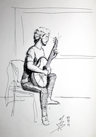 2Sketch 07 (Guitar Player) by docthedog