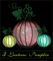 3 Lanterns Pumpkin by MajcheZmajche
