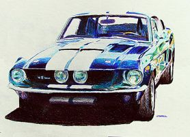 1967 Shelby GT350 by johnwickart