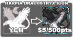 [INFO] $5/500pt Pixel Harpia Dracostryx YCH [OPEN] by Shalmons