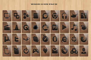 Wood Icons Pack by lewamora4ok