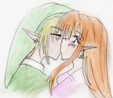Link and Malon kissie by DemonKikyo