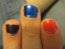 Colored finger nails by Lark-Catalpa-Royal8