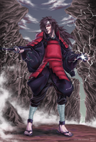 Uchiha Madara with katana by VKliza