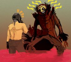 Sexbot vs Scarecrow WHAT by OrangeDjuice