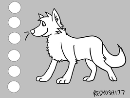 FREE Canine Lineart Ref by redyoshi77