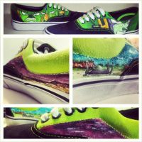 Dragonball Z Vans Cell by noahsartcustoms