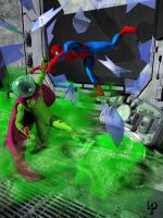Spiderman vs. Mysterio by leroysquab